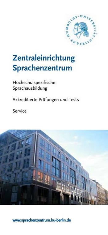 Flyer des Sprachenzentrums
